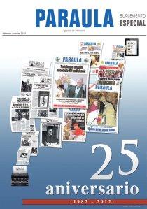 Portada del suplemento especial por los 25 años de PARAULA. (Diseño: Víctor Gutiérrez).