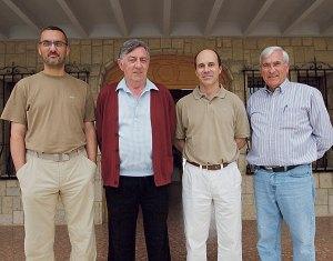 Paco Carratalá, educador; el director, Jesús Arive, José Pablo Bono y José María Martín, administrador. (Foto: Víctor Gutiérrez).