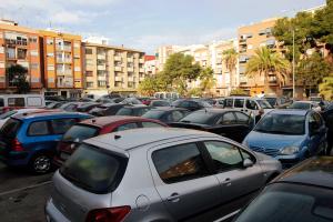 Vista de l'aparcament de Camí Reial. (F. S.)